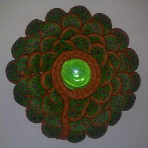 Цветок из пластика