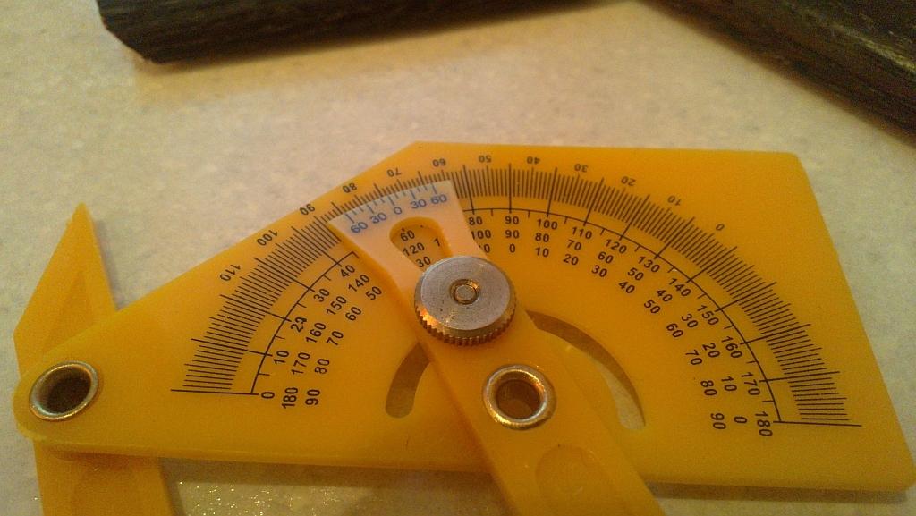 Измерение внутреннего угла: результат