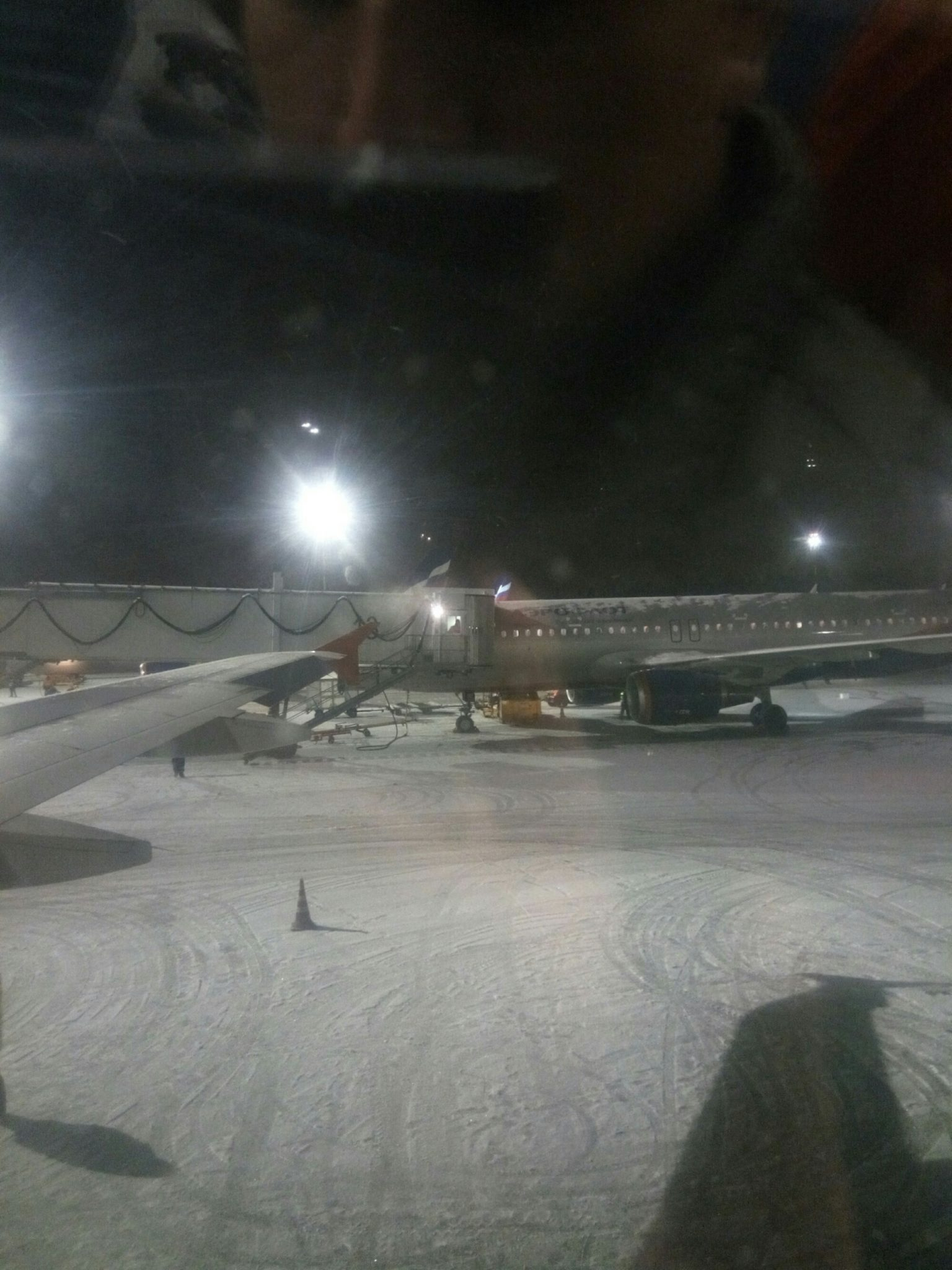 Аэропорт Москвы зимой