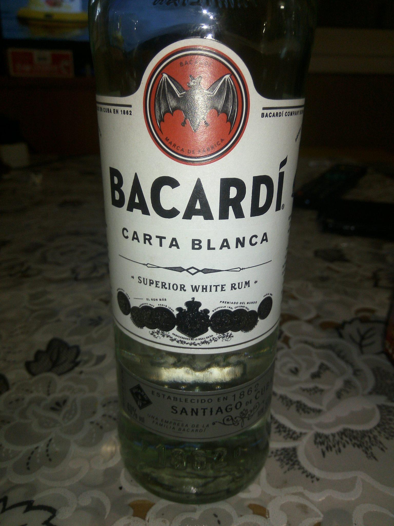 Bacardi. White rum