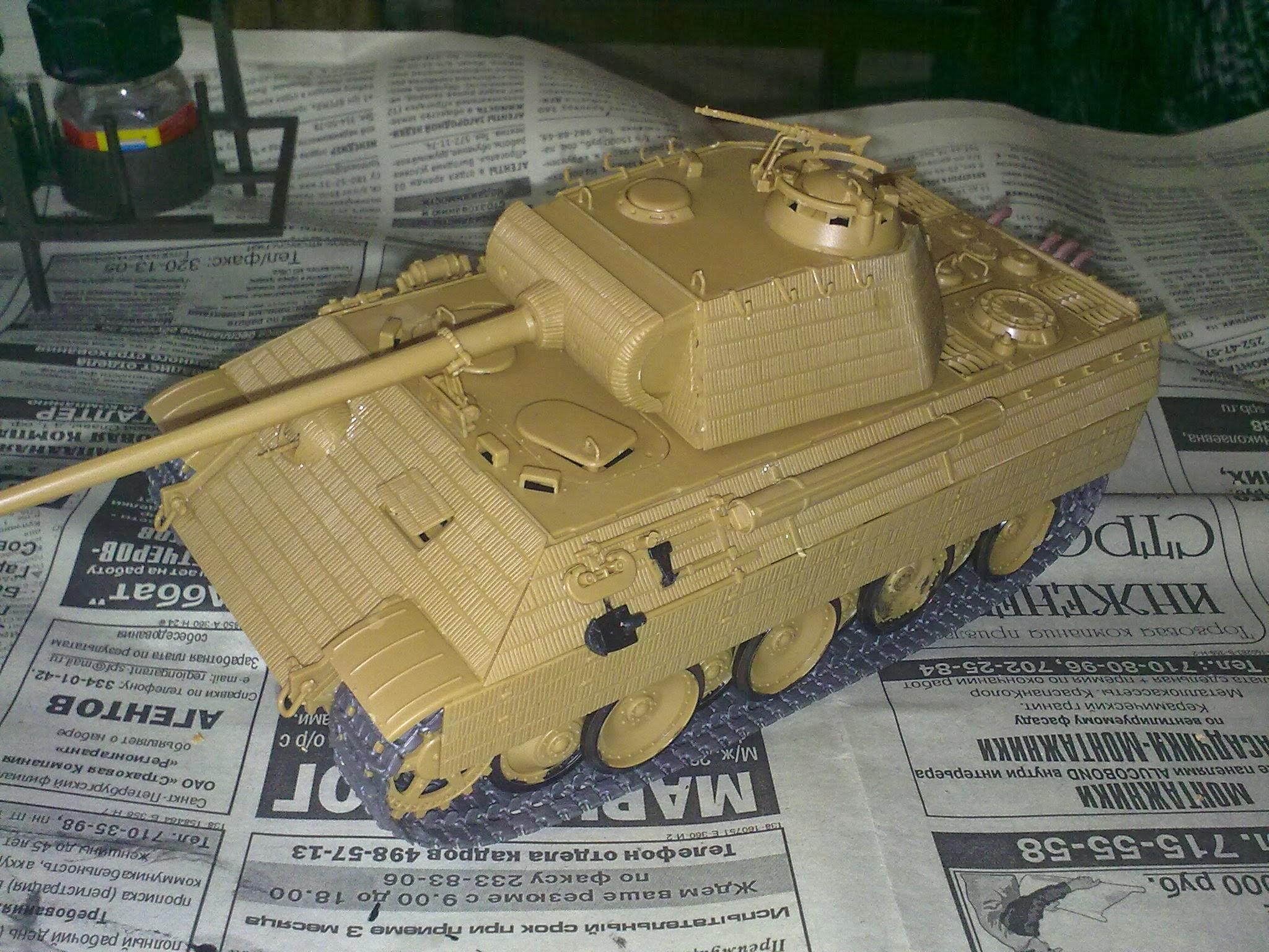 Модель танка от рукожопа
